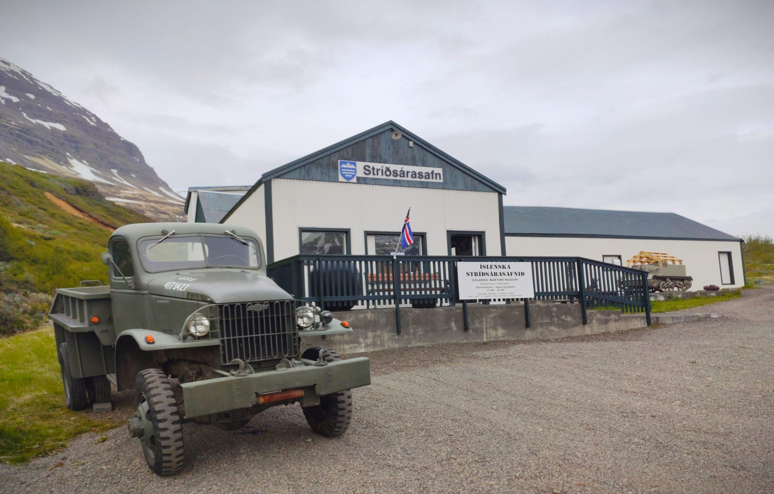 icelandic wartime museum front facade