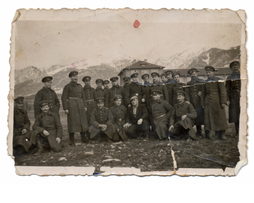 vintage picture of soldiers by the snowy mountains - Icelandic Wartime Museum