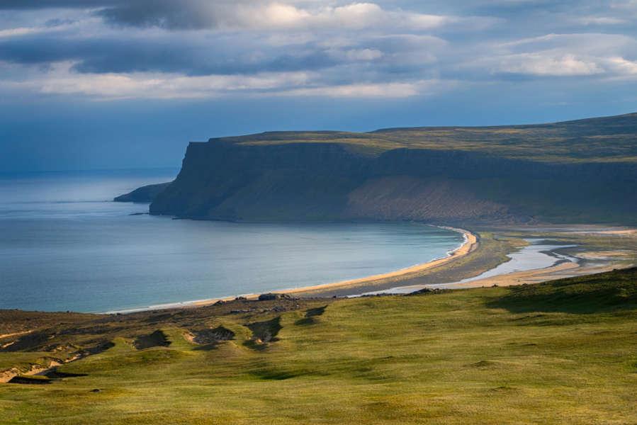 amazing panoramic views of breidavik beach